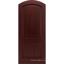 Mahogany Entrance Apartment Round Top Puertas de madera Design