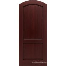 Projeto de portas de madeira redonda de apartamento de entrada de mogno