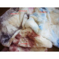 Tie-Dyed Long Fabric Faux Fur
