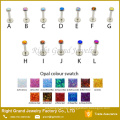 Surgical steel internally threaded Press Fit Opal Lip Piercing Jewelry
