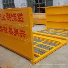 Équipement de nettoyage de rondelle de pneu de roue de véhicule de site de construction