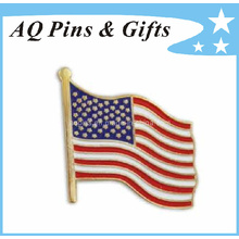 Cpsia aprobó el Pin de la solapa de la bandera del metal de los EEUU para la insignia de encargo (insignia-034)