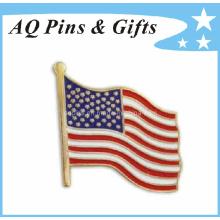 Cpsia Approuvé USA Metal Flag Lapel Pin pour badge personnalisé (badge-034)