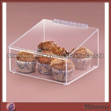 Clear Acrylic Bakery Display Case/Acrylic Food Display Holder