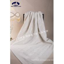Кашемир одеяло с большими кабели