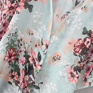 Floral Chiffon Casual Cardigan