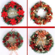 Национальная Дерево Декоративная Коллекция Рождественские Красные Смешанные Венки (C-6)
