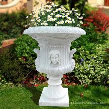 Stone craving tamanho personalizado granito jardim pedra vaso de flores