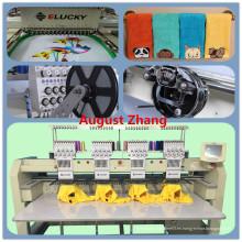 China Shenzhen Elucky de alta velocidad de cuatro cabezas de bordado de la máquina para el bordado profesional del casquillo con el precio barato