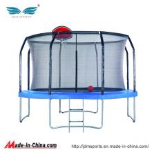 Venda Por Atacado rodada de fibra de vara trampolim com aro de basquete