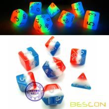 Bescon+Glowing+Polyhedral+Dice+7pcs+Set+FRENCH+KISS%2C+Luminous+RPG+Dice+Glow+in+Dark%2C+DND+Role+Playing+Game+Dice
