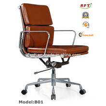 Eames Office Furniture Leather Aluminium Computer Manager Chair (RFT-B01)