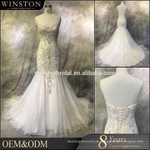 China alibaba Lieferant arabische Brautkleider Meerjungfrau
