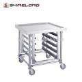 Trolley de cozinha de panela GN GN de aço inoxidável S061 com bancadas de bancada superior