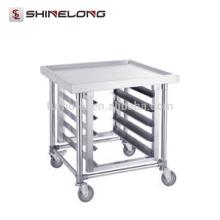 Chariot de cuisine de casserole de GN d'acier inoxydable de S061 avec les supports supérieurs de banc