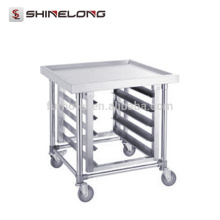 S061 Stainless Steel GN Pan Kitchen Trolley With Top Bench Racks