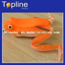 Coloré doux grenouille leurre pour la pêche