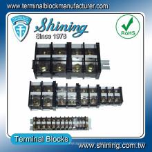 Ensamblaje de plástico aislado de la serie TE Bloque de terminales de montaje en carril de 35 mm
