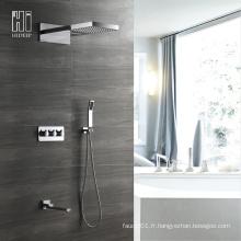 Robinet de douche encastré mural à quatre fonctions