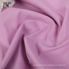 Tecido de mistura de nylon de algodão liso liso por atacado