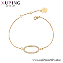 75789 xuping 18k позолоченные мода имитация кристалл Шарм браслет для женщин