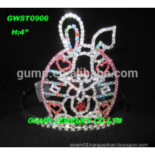 Big rhinestone rabbit tiara crown for Easter,sizes available