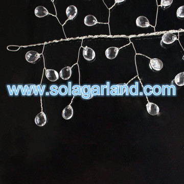 Akrylowe Crystal Faceted Teardrop Bead Tree Branches