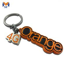 Presente profissional de metal personalizado carta tag chaveiro