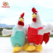 Año nuevo chino Squeaky Soft Cock Juguete de pollo relleno de felpa amarillo de gallo