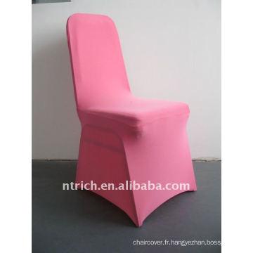 housse de chaise en spandex rose / rose vif, CTS682, pour toutes les chaises