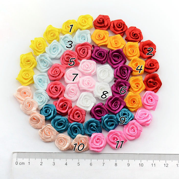 Ribbon Rose Fabric Flower Brooch Garment Decoration