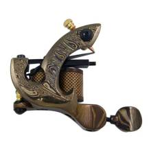 Damascus Tattoo Machine Gun Damascus Steel Bottom