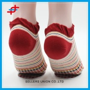 Colorful 100% Cotton Ankle Kids Seamless Socks