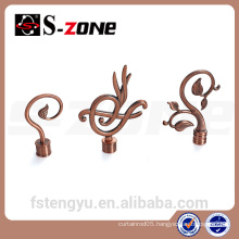 decor iron curtain rod finial for indoor