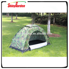 1 person cheap camping tent with pole clips for quick assembly