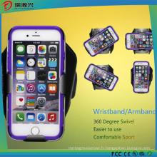 Le plus nouveau personnalisent le cas de brassard du pivot LED de logo pour des téléphones portables