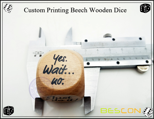 Custom Printing Beech Wooden Dice-3
