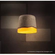 Loft Indoor Cement Lamps Modern Retro Concrete Pendant Light