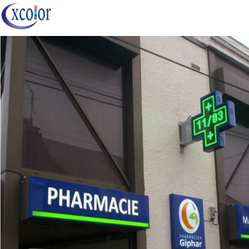Display a LED P8 Double Side Cross per farmacia