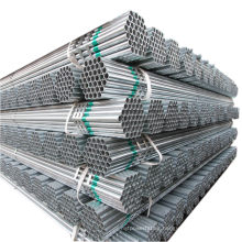 hot sale hdg curtain wall steel pipe sizes ! a53 q235 material gi erw round tube screw galvanized pipe