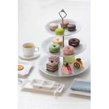 Plat de dessert en mélamine / plat à trois couches de thé (WT19910S)