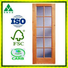 10lite / Glas Solid / Furnier Holz Französisch Tür