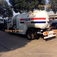 Camión tanque de gas LPG de 5000 litros con dispensador