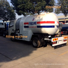 Camion-citerne de gaz de GPL de 5000 litres avec la distribution