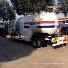 5000 Liters LPG Gas Tank Truck with Dispensing