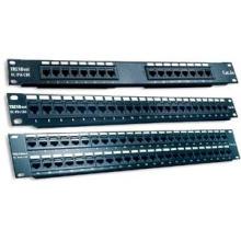 Telecomunicação 2U UTP Patch Panel RJ45 CAT6 12/24/36/48/96 porta com módulos Krone 110 IDC