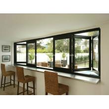 Porta de alumínio e janelas dobráveis deslizantes de abertura máxima