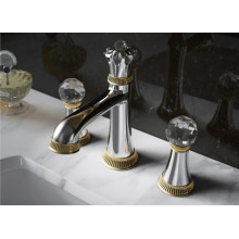 Mitigeur et robinet de lavabo de luxe à deux poignées (DH40)