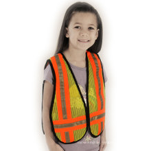 Children′s 100% Pol; Yester Mesh Safety Vest with Caution Tape