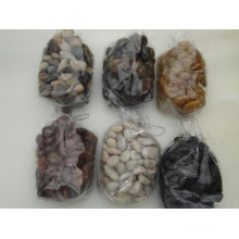 mixed color polished pebble stone, natural river stone, landscape, paving stone